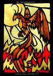 Phoenix - stained-glass window