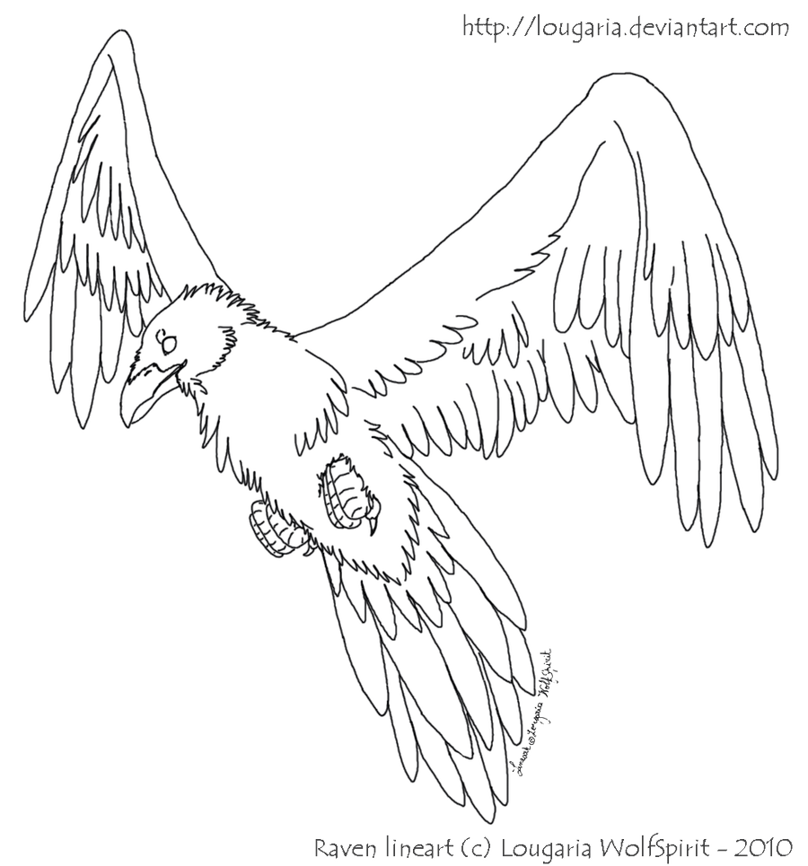 Line Drawing Raven : Free lineart raven by lougaria on deviantart