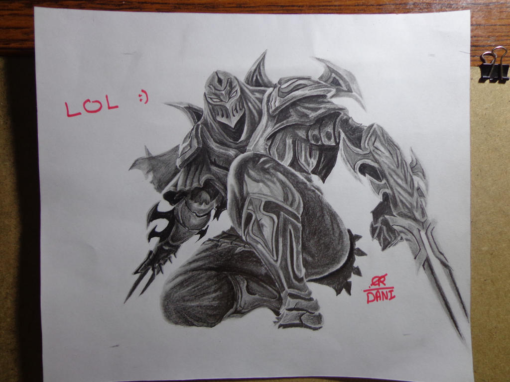 League of Legends drawing champions Zed by DaniFiras on ...