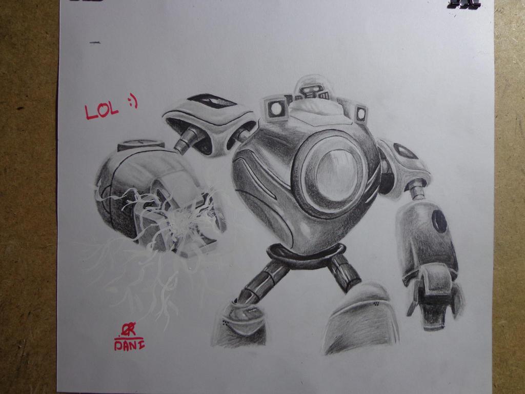 League Of Legends Drawing Champions Blitzcrank By Danifiras