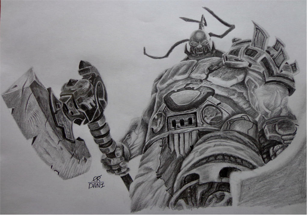 League Of Legends Drawing Champions Sion By Danifiras On