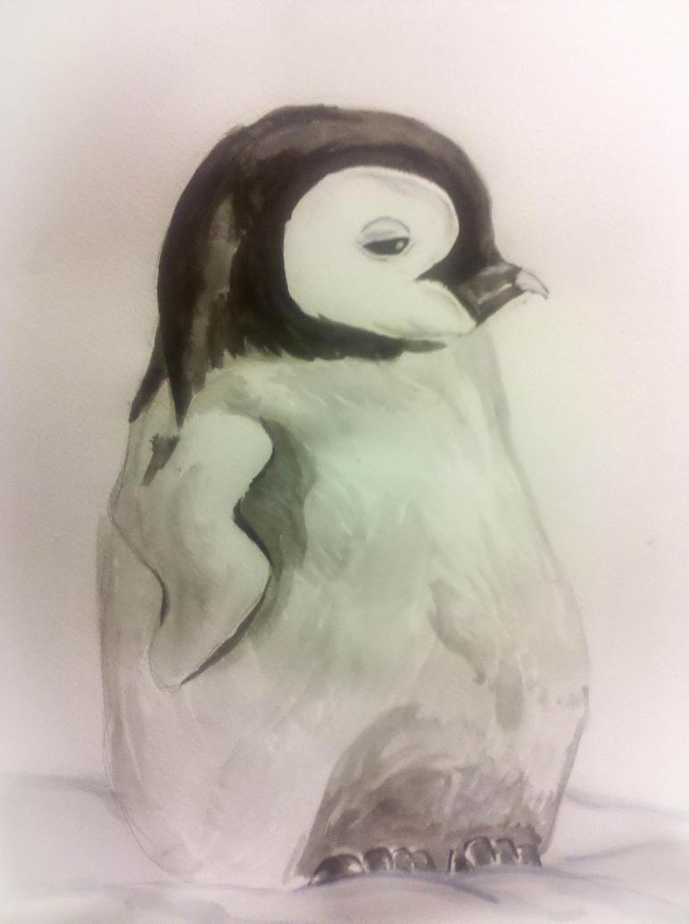 Baby penguin art - photo#18
