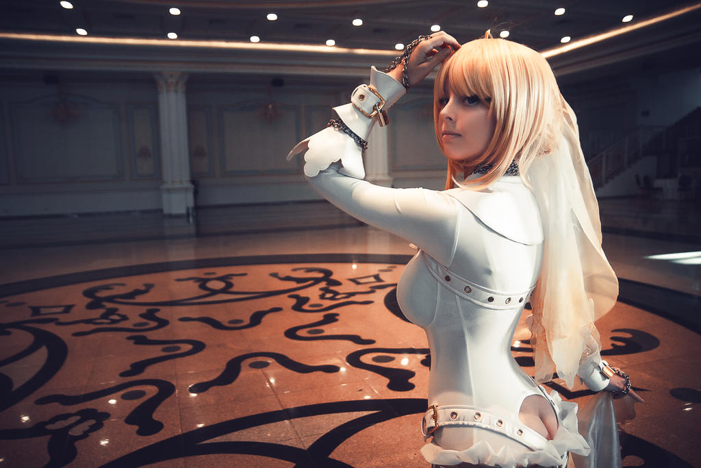 Fate extra cosplay sex saber bride