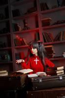 Fate/Stay Night - Rin Tohsaka cosplay by Disharmonica