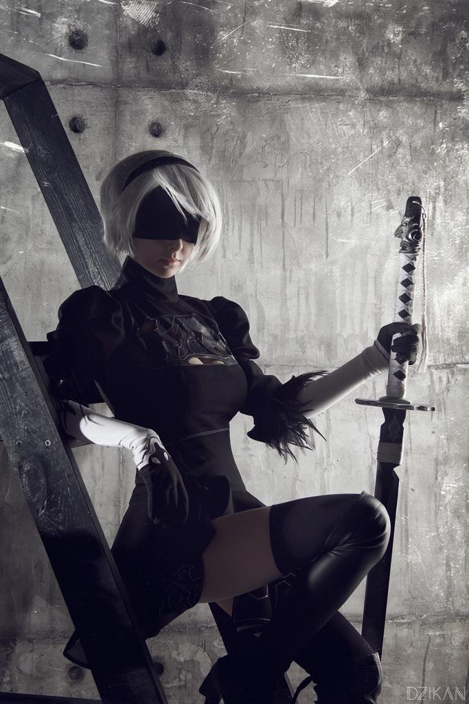 NieR: Automata YoRHa No.2 Type B aka 2B cosplay print | Etsy