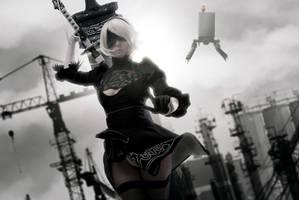NieR: Automata - 2B cosplay by Disharmonica