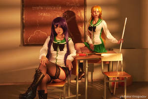 Highschool of the Dead - Rei and Saeko cosplay