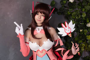 Overwatch - Magical girl D.Va cosplay by Disharmonica