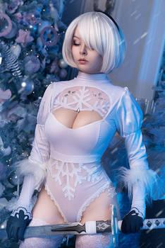 2B Winter Edition cosplay