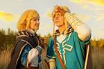 Cosplay Zelda and Link