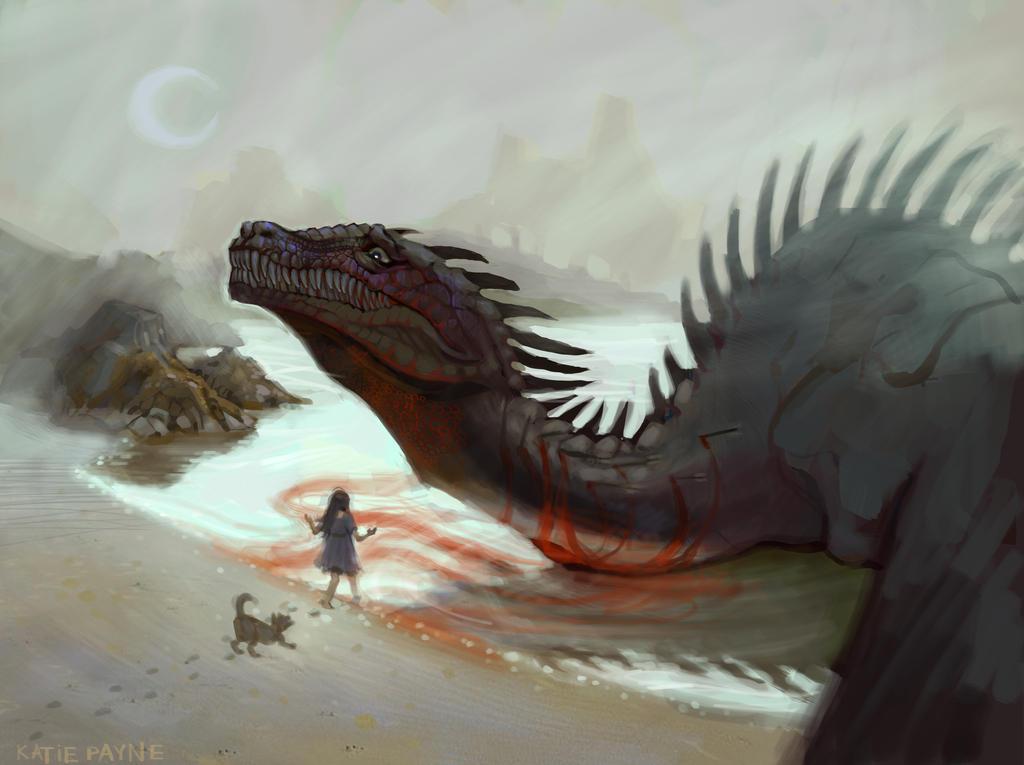 Misunderstood Godzilla- WIP?? by oneKATIE