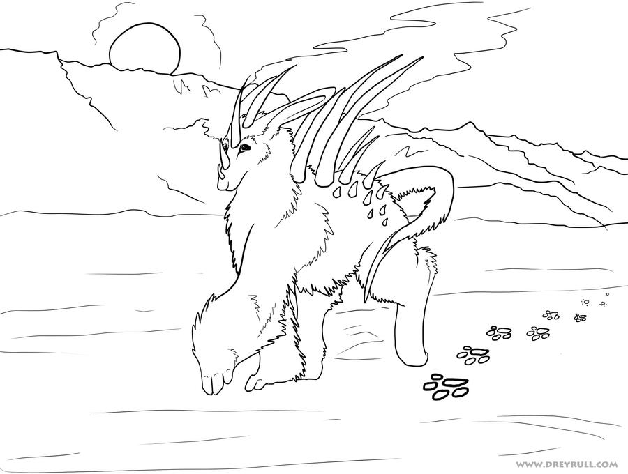 tundra animals coloring pages - photo#1