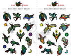 STICKERS: Green Cheek Conures