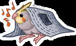 STICKER: Cockatiel Newsie by Brushfeather