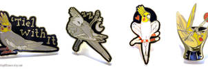 The Tiel With It Pin Set by Brushfeather