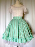 Minty Striped Skirt