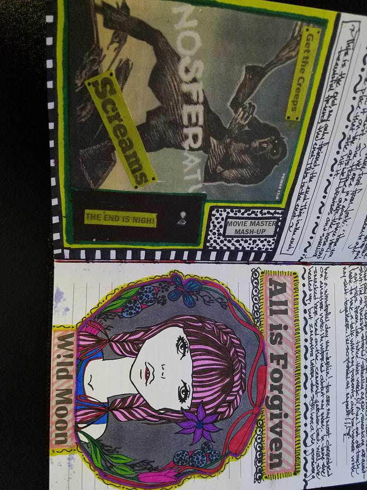 creepy and forgiving art journal pages by countessjenjen