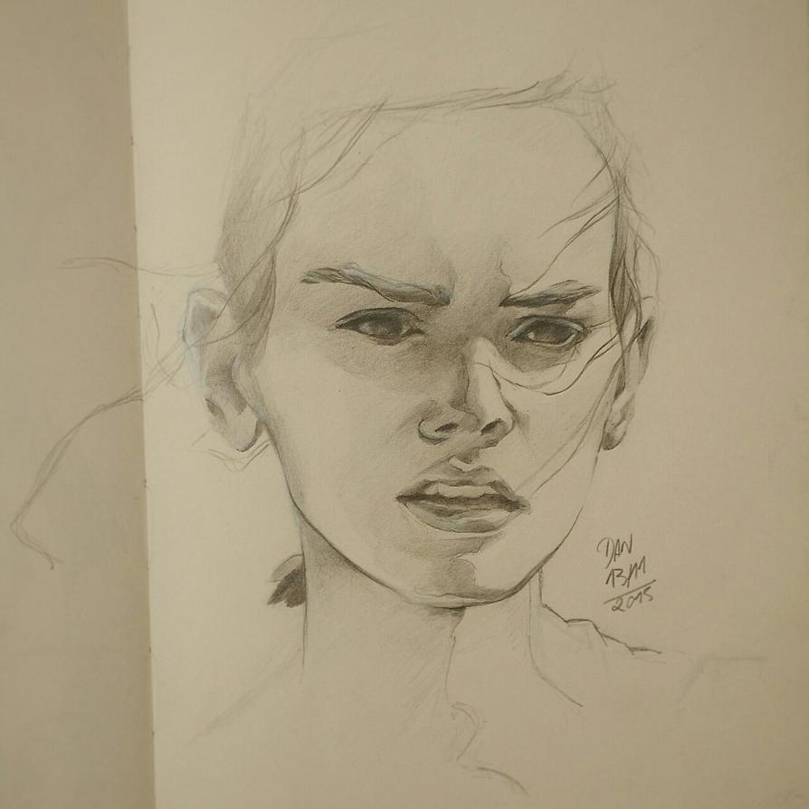 Rey - Daisy Ridley by danielamaro