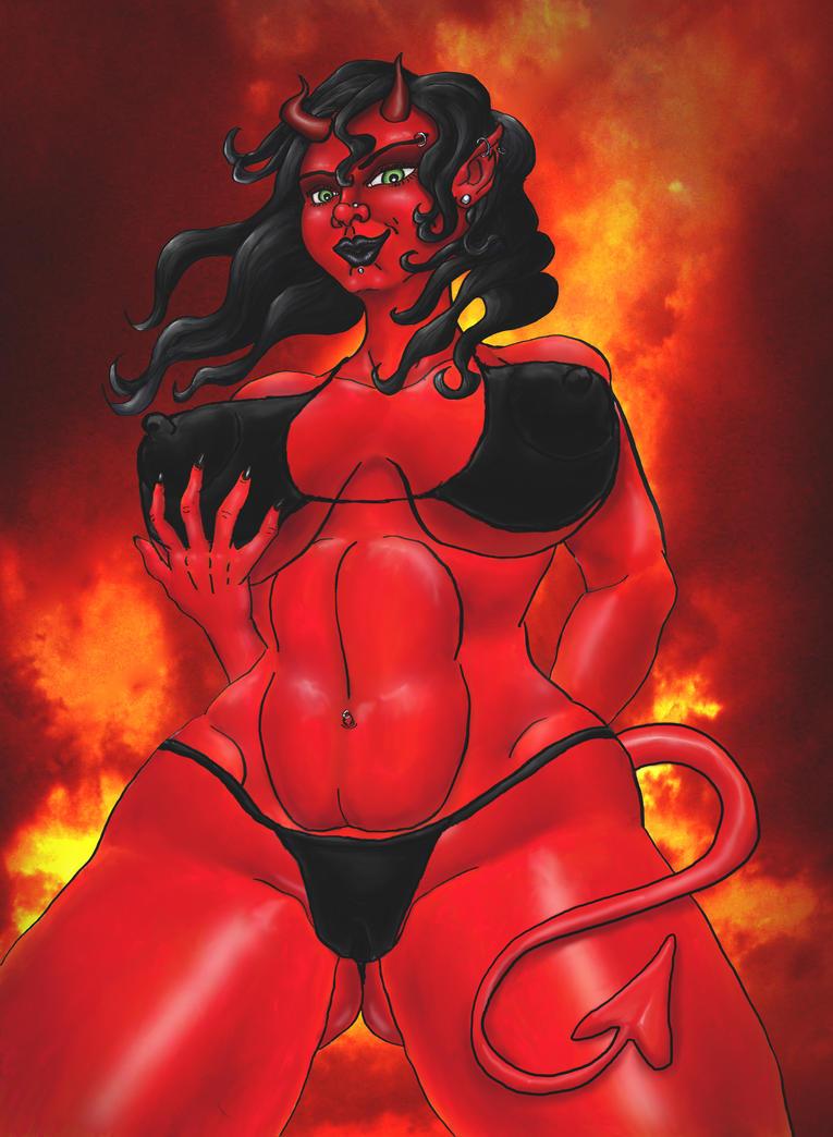New Devil Girl In Bikini By Steevdragon On Deviantart