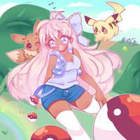 Pokemon Trainer Girl ~ by dolliifluff