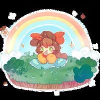Somewhere over the rainbow~ +SPEEDPAINT by dolliifluff