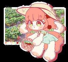 Strawberry farm bun! OTA! CLOSED! by dolliifluff