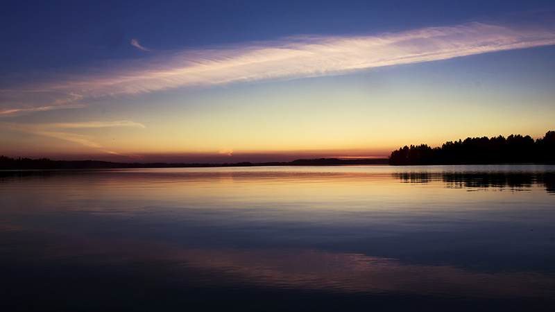 Sunset On a Lake by Laazeri