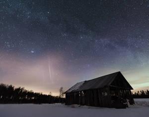 Barn Under the Milky Way by Laazeri