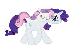 Vector Rarity and Sweetie Belle  Kyss.S