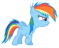 Vector Filly RainbowDash-Start by Kyss.S by KyssS90