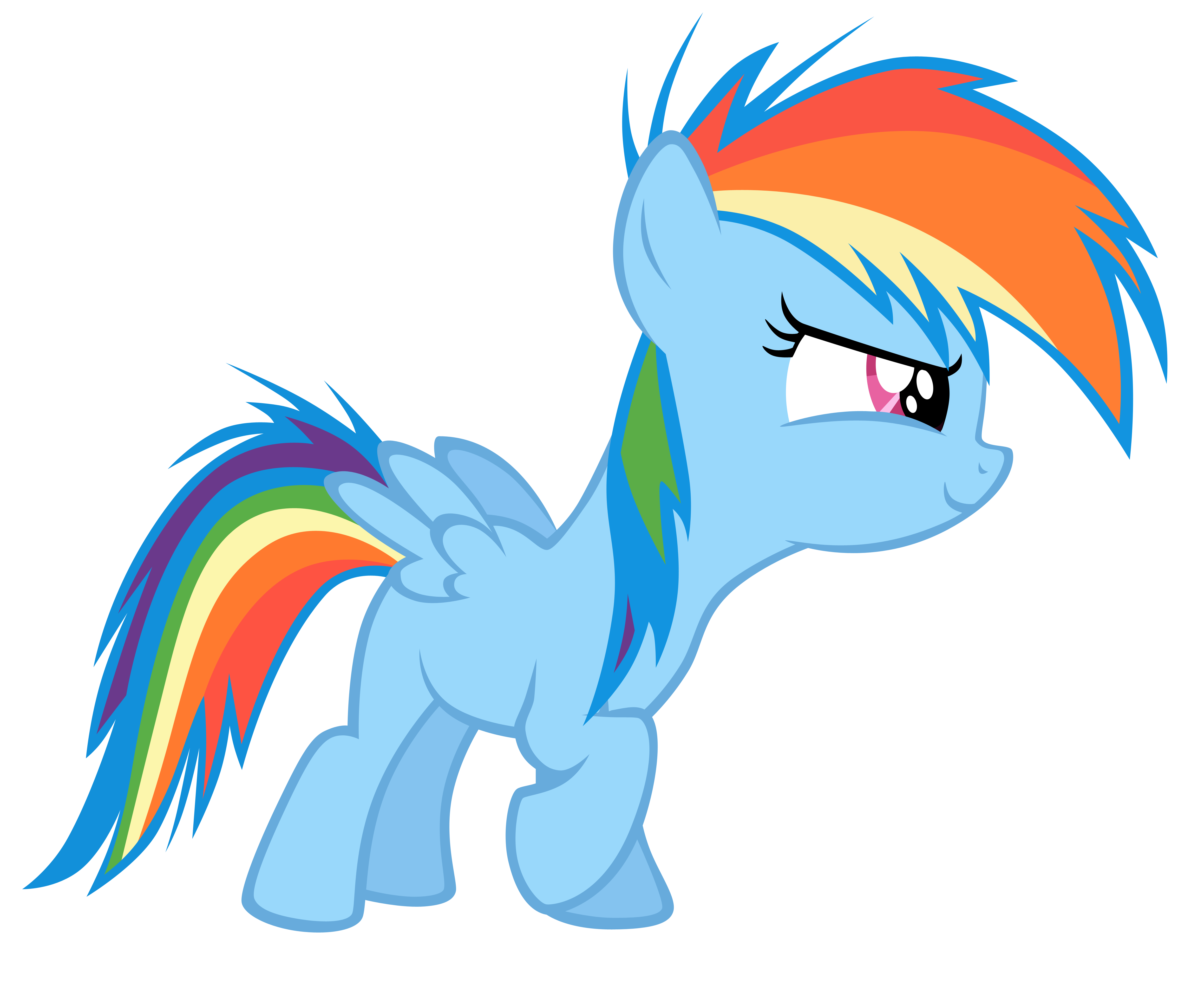 Vector Filly RainbowDash-Start by Kyss.S by KyssS90 on ...  Filly Rainbow Dash And Derpy