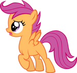 Vector Scootaloo by Kyss.S