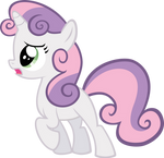 Vector Sweetie Belle by Kyss.S