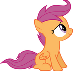 Vector Sitting Scootaloo by Kyss.S