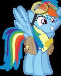 Vector RainbowDash- Leader by Kyss.S