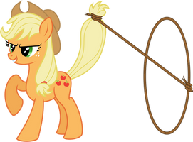 Vector AppleJack with Lasso by KyssS by KyssS90
