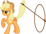 Vector AppleJack with Lasso by KyssS