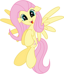 Vector Fluttershy vampire - Happy by Kyss.S by KyssS90