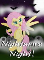 Vampire Fluttershy - evil  [Nightmare Night!] by KyssS90