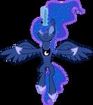 Vector Princess Luna - eclipse of the moon
