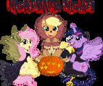 Fluttershy,AppleJack,Twilight S [Nightmare Night!]