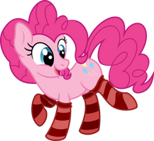Pinkie Pie-is in striped socks [Commission]
