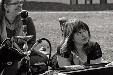 Girls are smoking a hookah by PeterTakacs