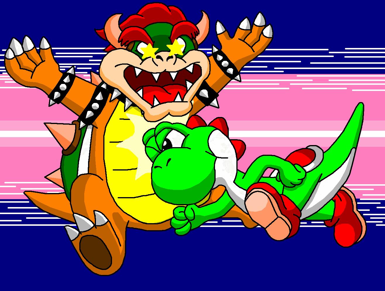 Yoshi vs Bowser by DarkDiddyKongYoshi And Bowser