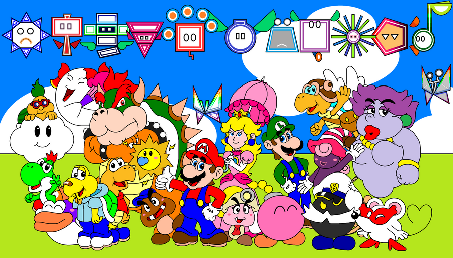 Paper Mario Group Photo By DarkDiddyKong On DeviantArt