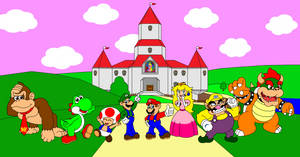 The cast of Mario Kart 64