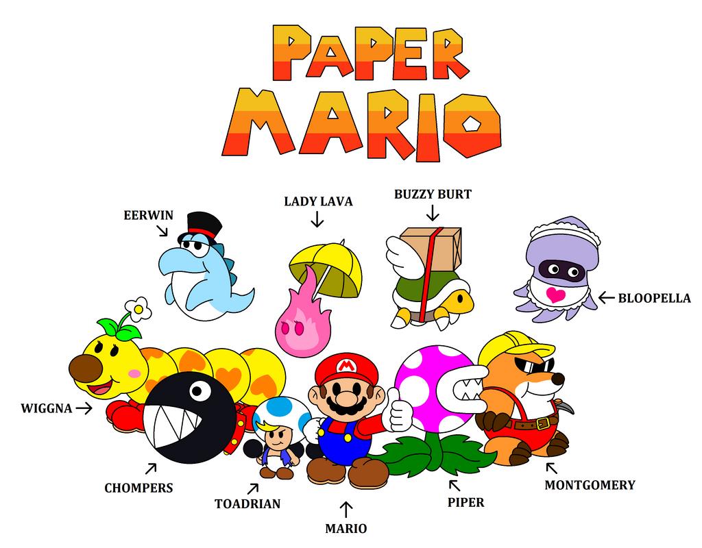 paper mario fan made partners by darkdiddykong on deviantart