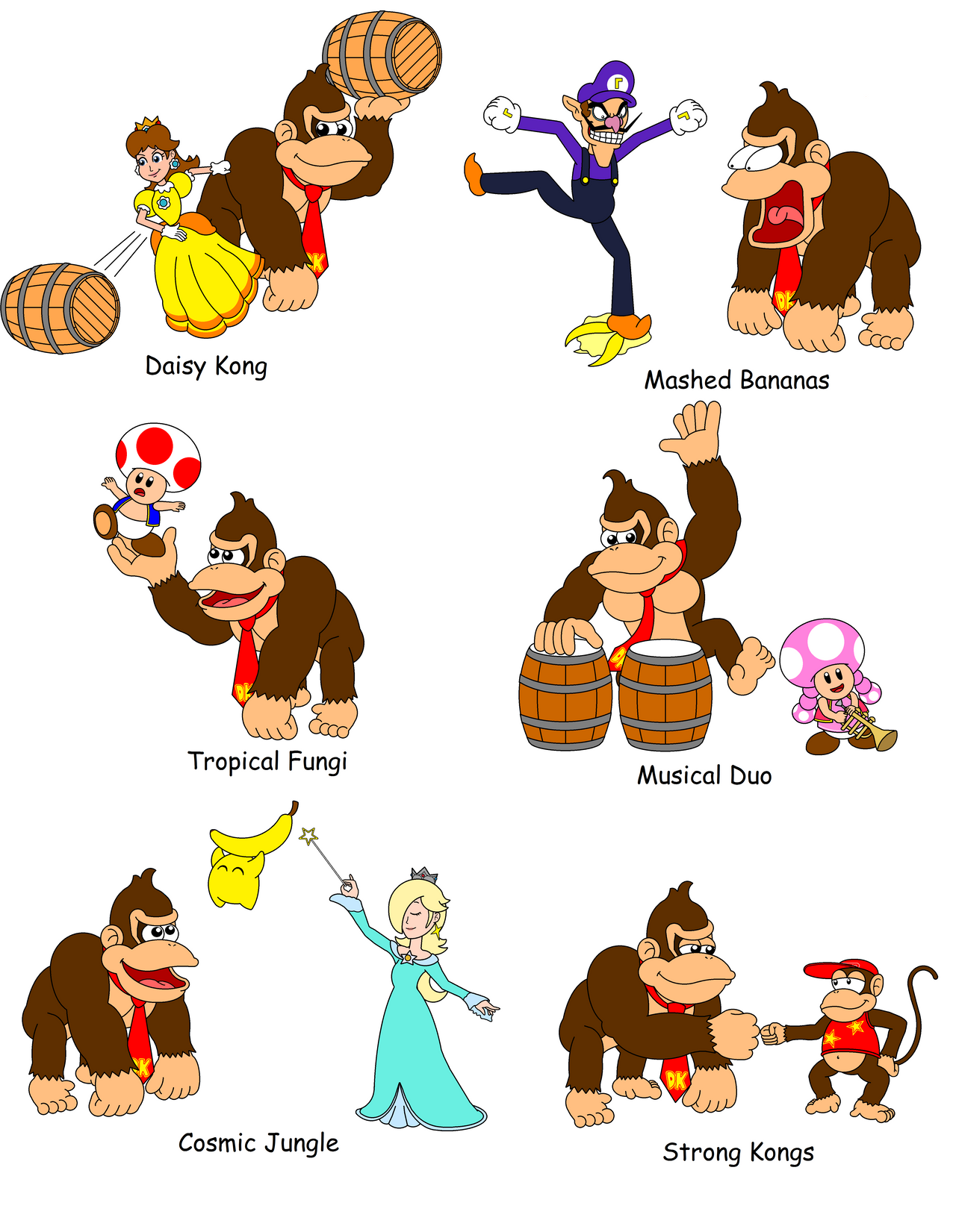 Team Names with Donkey Kong 2 by DarkDiddyKong on DeviantArt