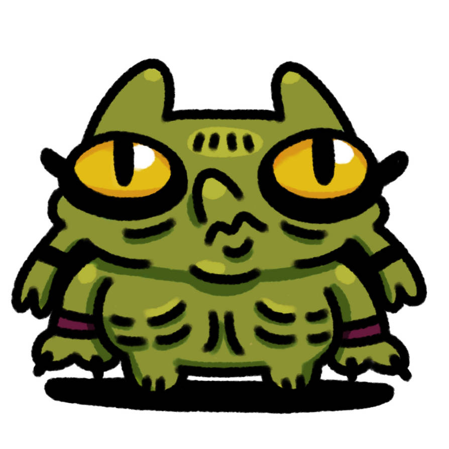 Aztec Cat Ogre by richardand