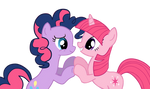 Twilight and Pinkie Pie recolored